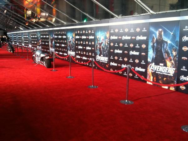 Red carpet film premiere