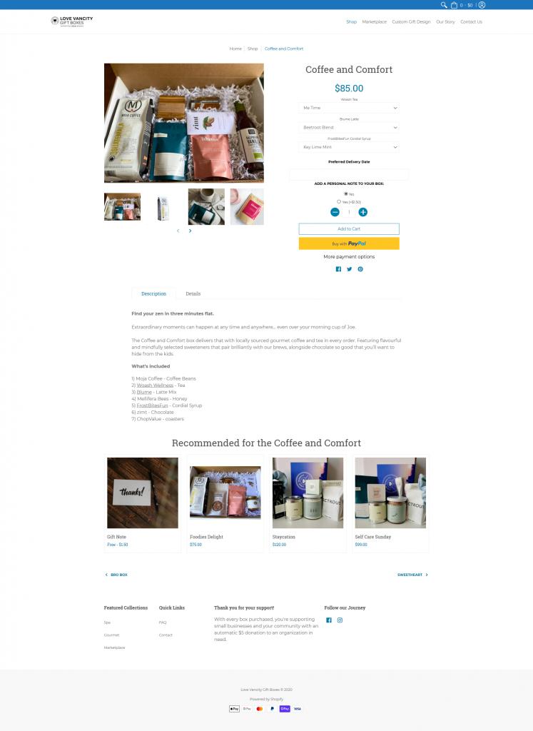 Coffee & Comfort Gift Box
